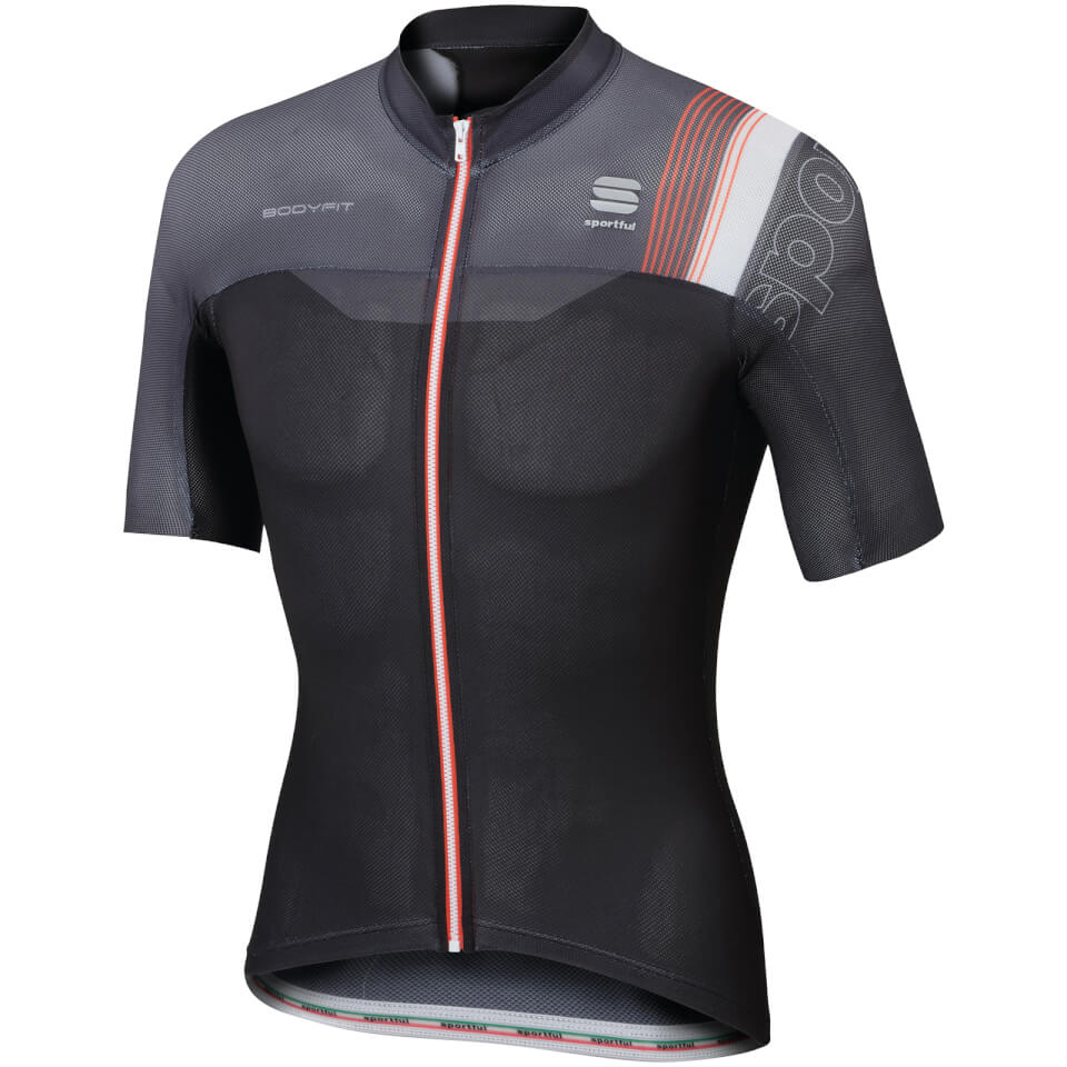 sportful-body-fit-pro-race-short-sleeve-jersey-black-grey-xl-black-grey