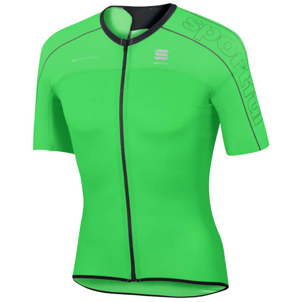 sportful-body-fit-ultra-light-short-sleeve-jersey-green-black-l