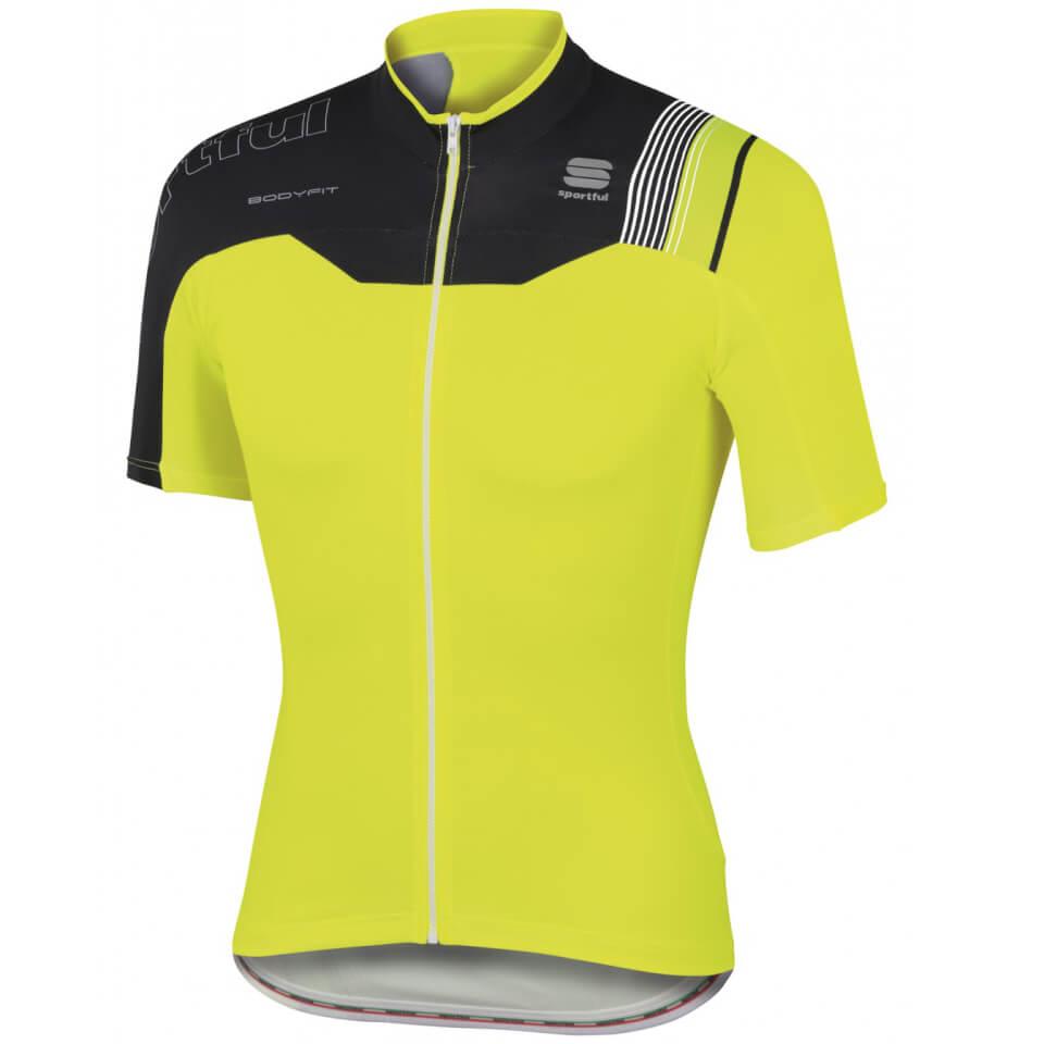 sportful-body-fit-pro-team-short-sleeve-jersey-yellow-black-m-yellow-black
