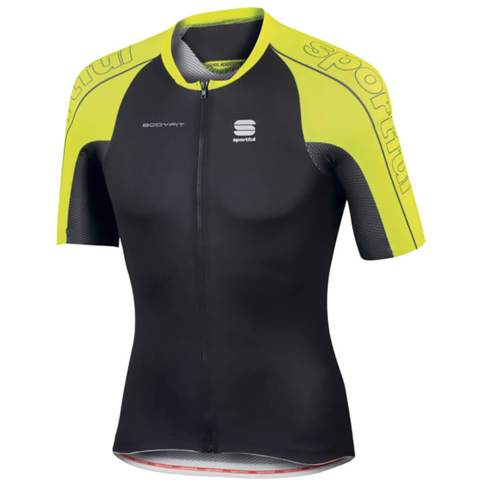 sportful-body-fit-speed-skin-short-sleeve-jersey-black-yellow-l