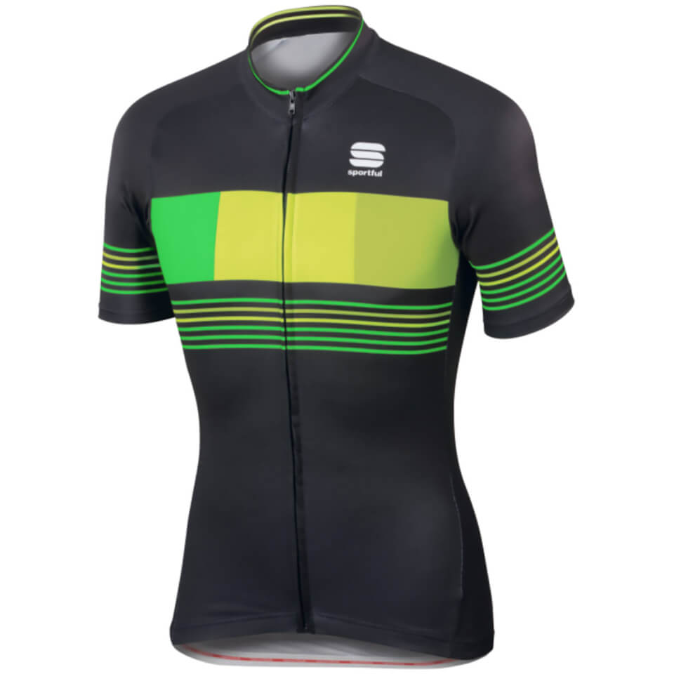 sportful-stripe-short-sleeve-jersey-black-yellow-l-black-yellow