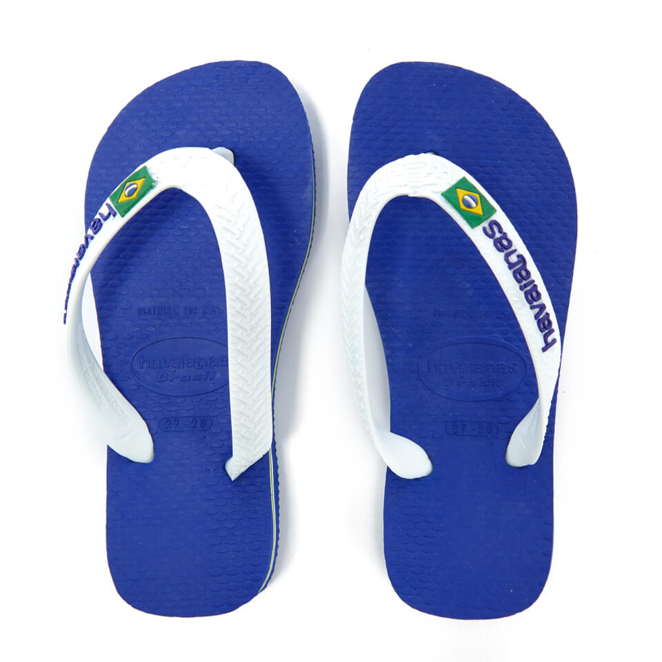 ac75d897fb9abd ... EAN 7895265369794 product image for Havaianas Kids  Brasil Logo Flip  Flops - Marine Blue ...