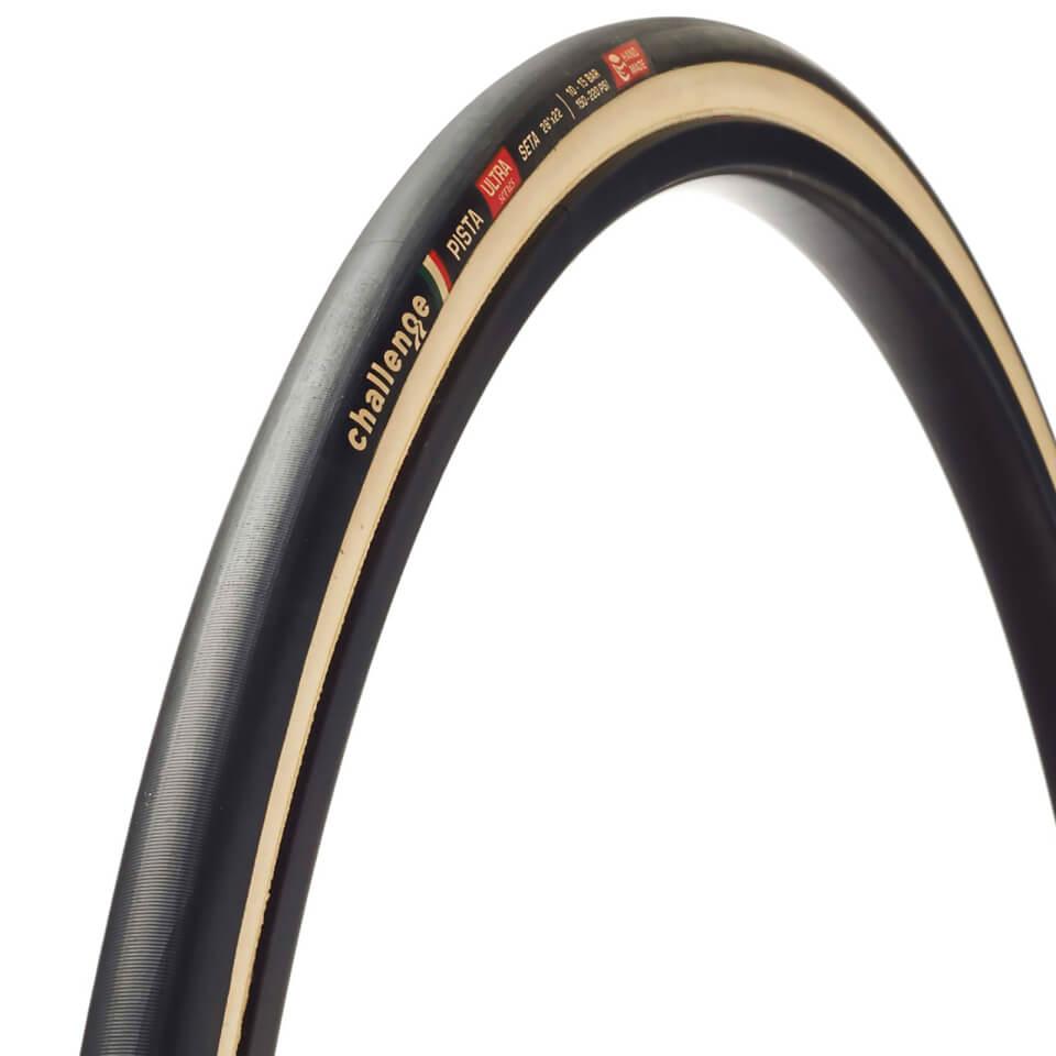Challenge Pista Seta Silk Tubular Track Tyre - Black/Tan - 700c x 22mm | Tyres