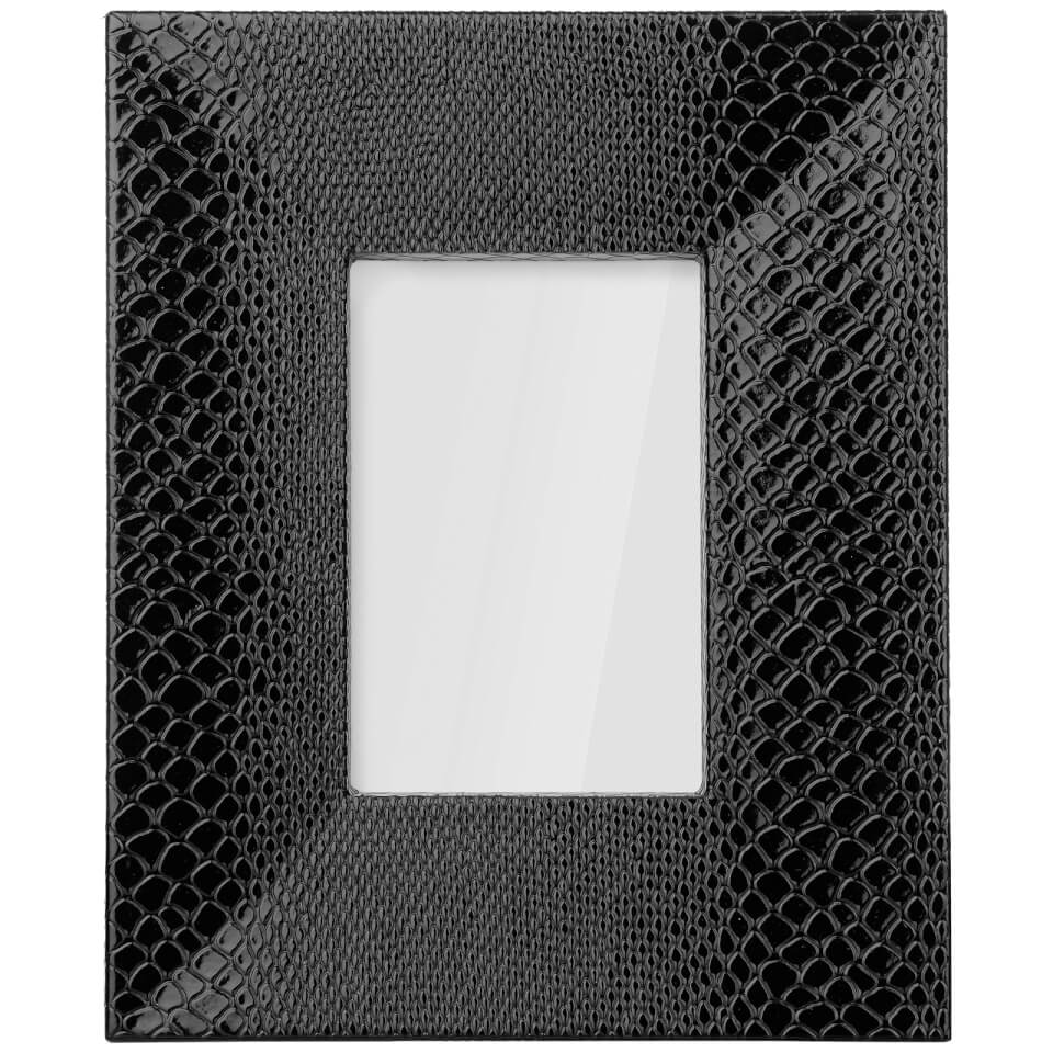 snake-leather-effect-veneer-photo-frame-4-x-6-black