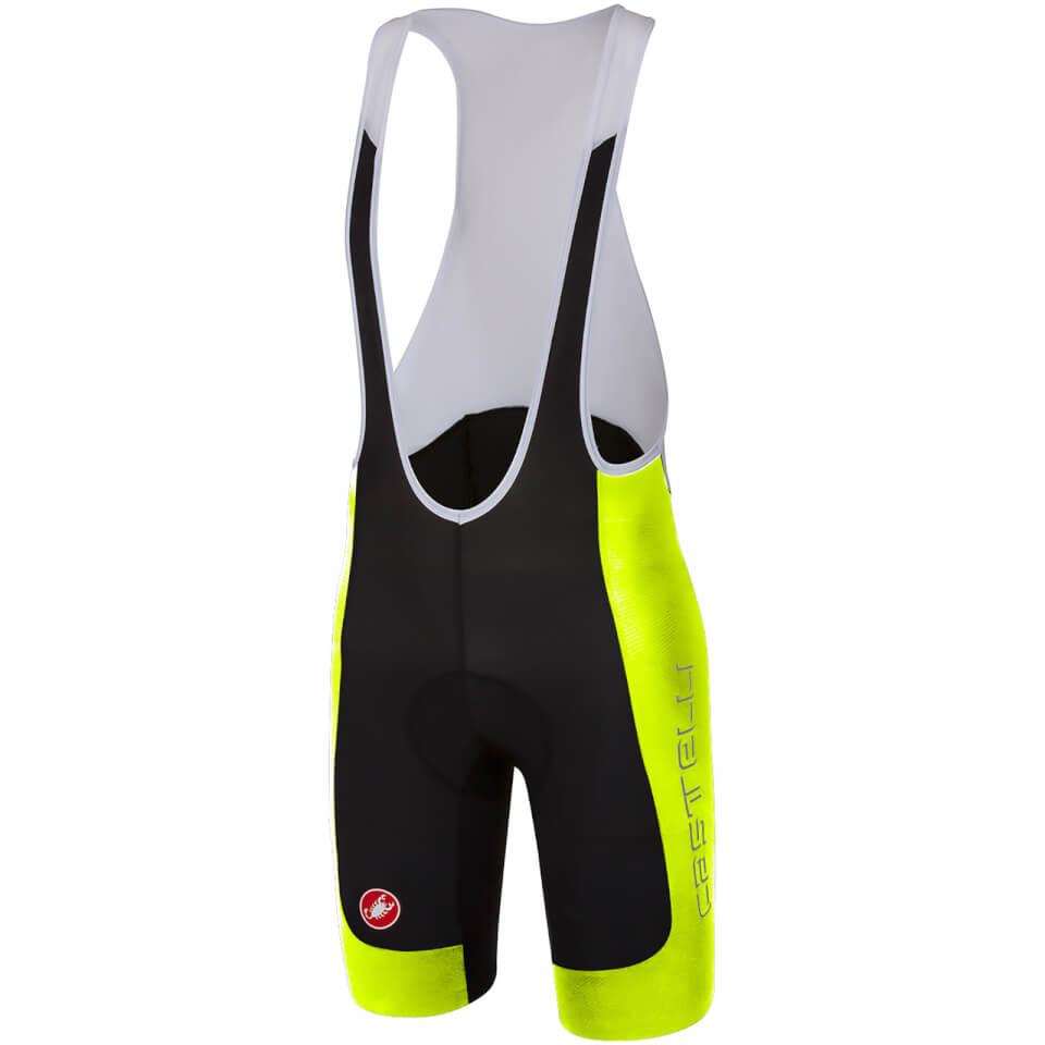 castelli-evoluzione-2-bib-shorts-blackyellow-fluo-s