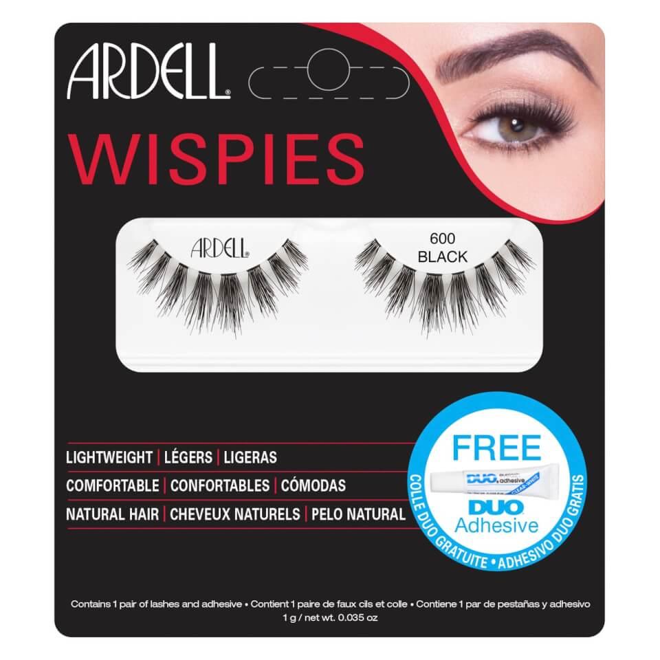 Ardell Wispies Cluster False Eyelashes - 600 Black