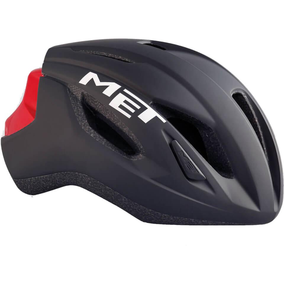 Met Strale Road Helmet - M/52-58cm - Black/Red