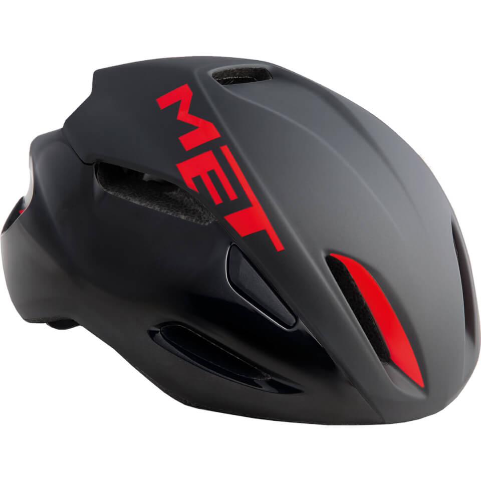 Met Manta Road Helmet - L/59-62cm - Black/Red