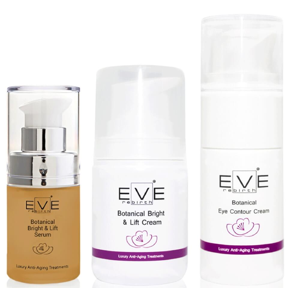 eve-rebirth-botanical-bright-lift-serum-botanical-bright-lift-cream-botanical-eye-contour-cream