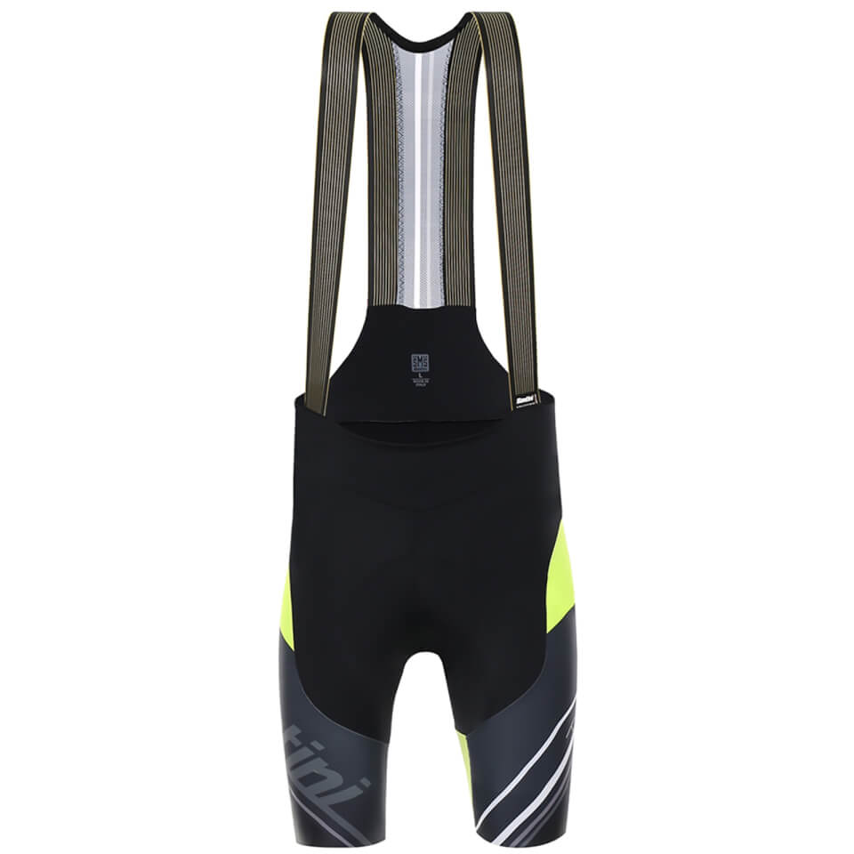 santini-tono-bib-shorts-black-yellow-s