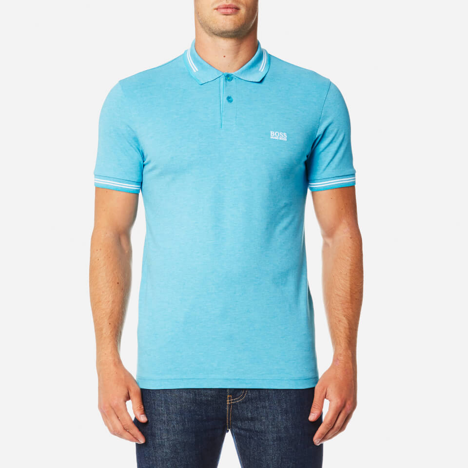 Boss Green Mens Paul Polo Shirt Blue M