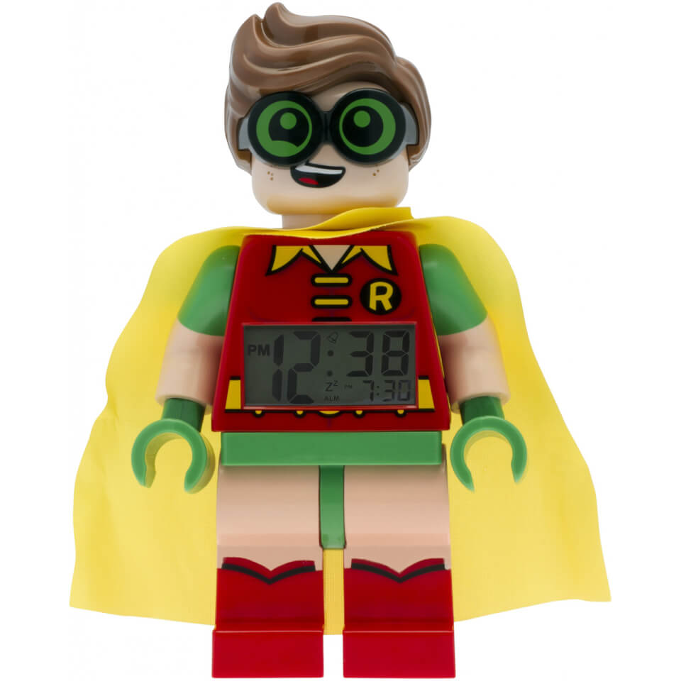 Lego Batman Movie Robin Minifigure Clock Toys Zavvi