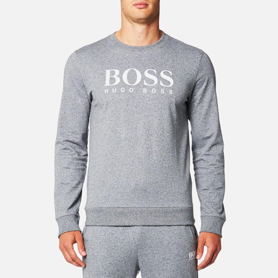Boss Hugo Boss Mens Large Logo Sweatshirt Charcoal L