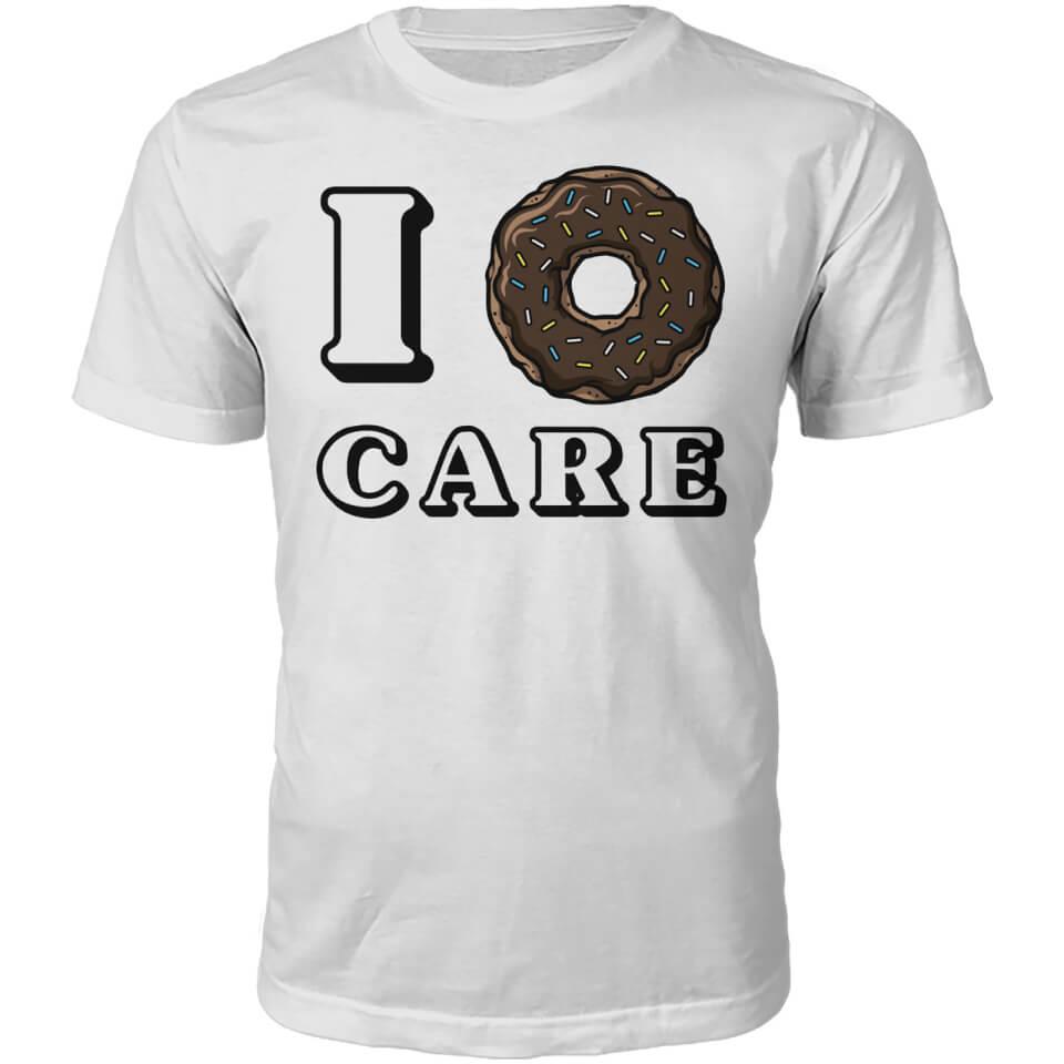 Camiseta  I donut care  - Hombre - Blanco - L - Blanco