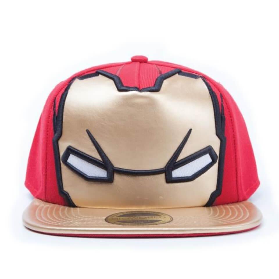 Marvel Captain America Civil War Iron Man Big Face Snapback Cap