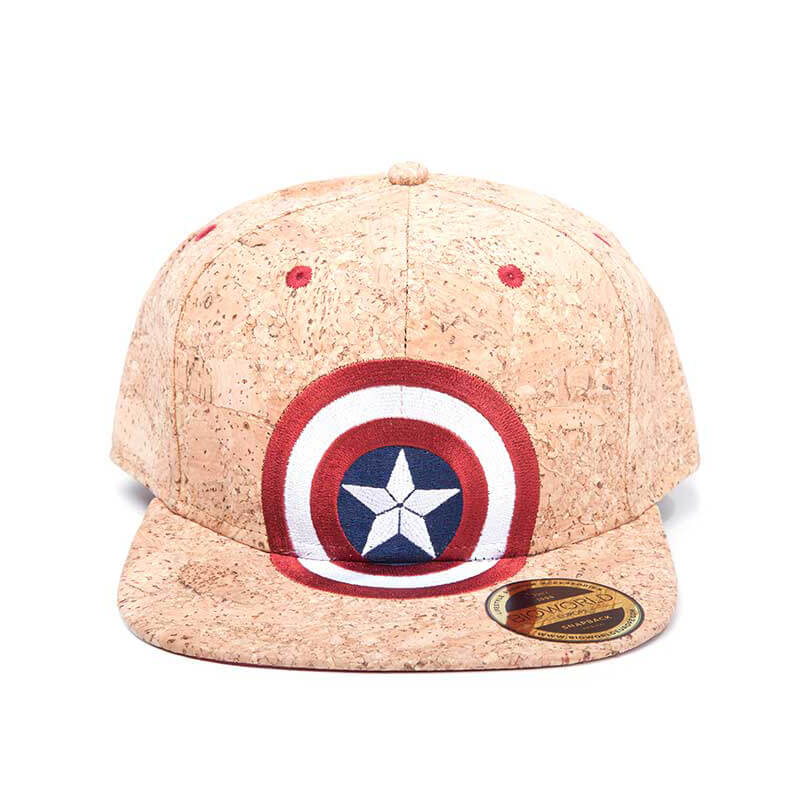 Marvel Captain America Civil War Shield Logo Snapback Cap Cork