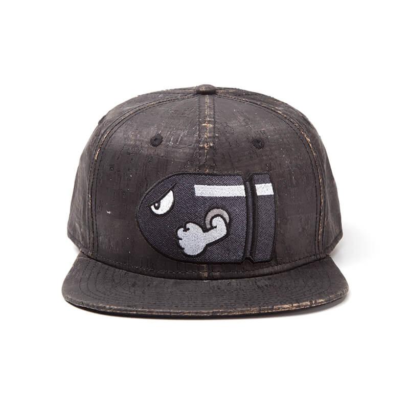 nintendo-super-mario-bullet-bill-snapback-cap-with-embroidery-black