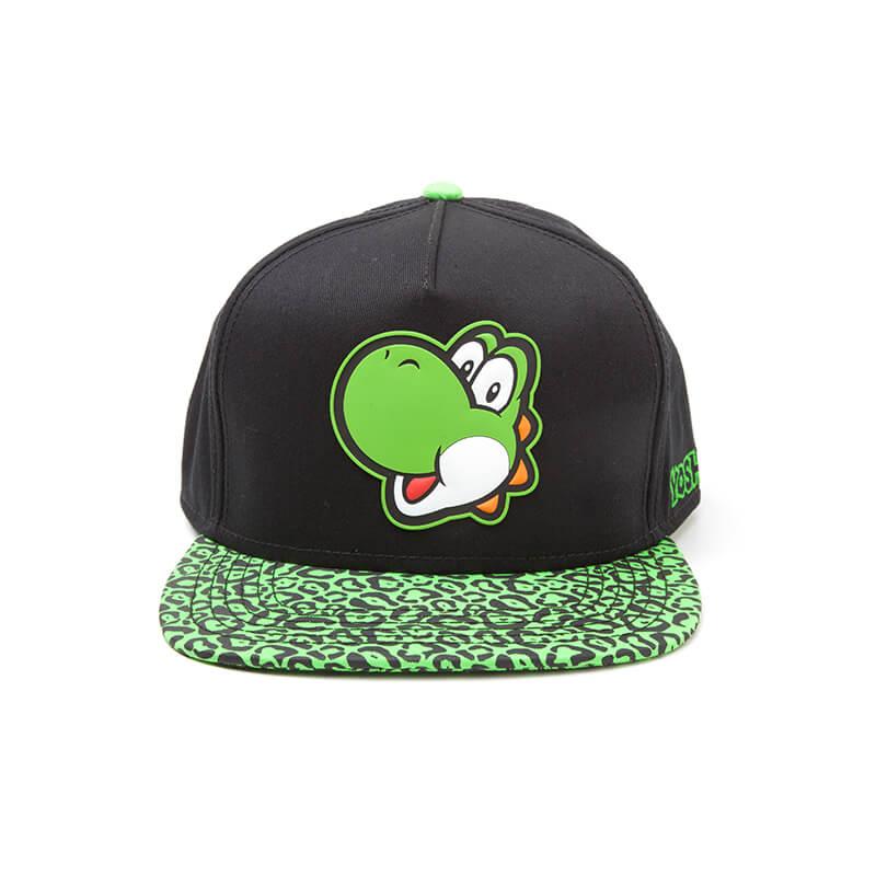 nintendo-super-mario-yoshi-rubber-print-snapback-cap-black-green