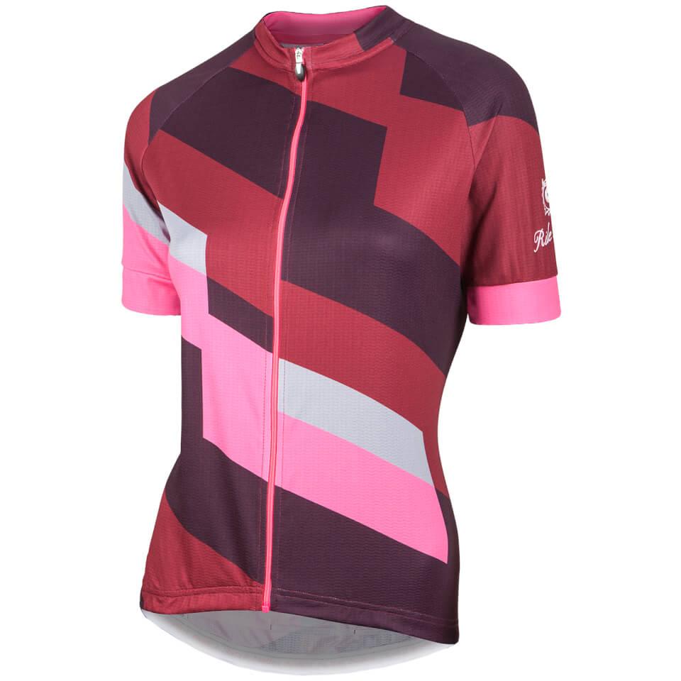nalini-women-stripe-short-sleeve-jersey-brown-pink-xs-brown-pink