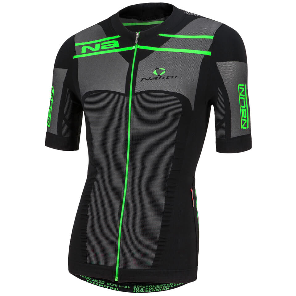 nalini-san-zeno-short-sleeve-compression-jersey-black-green-xxl-black-green