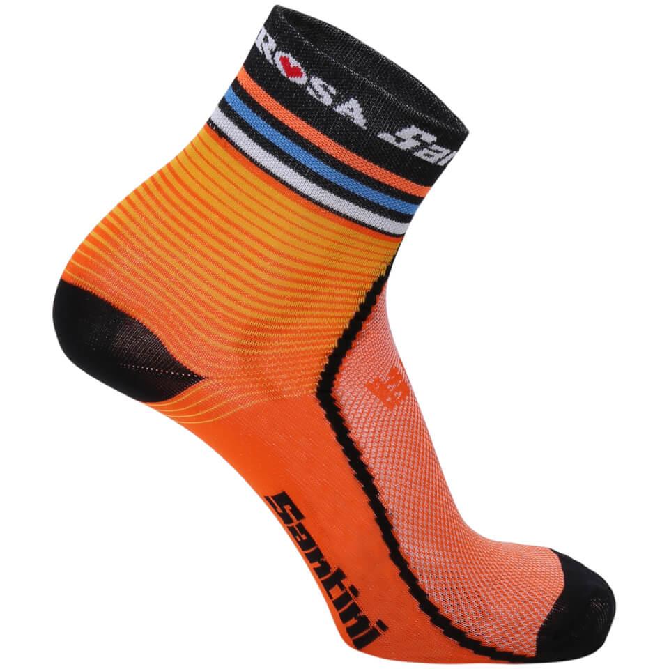 santini-de-rosa-17-coolmax-socks-orange-xs-s