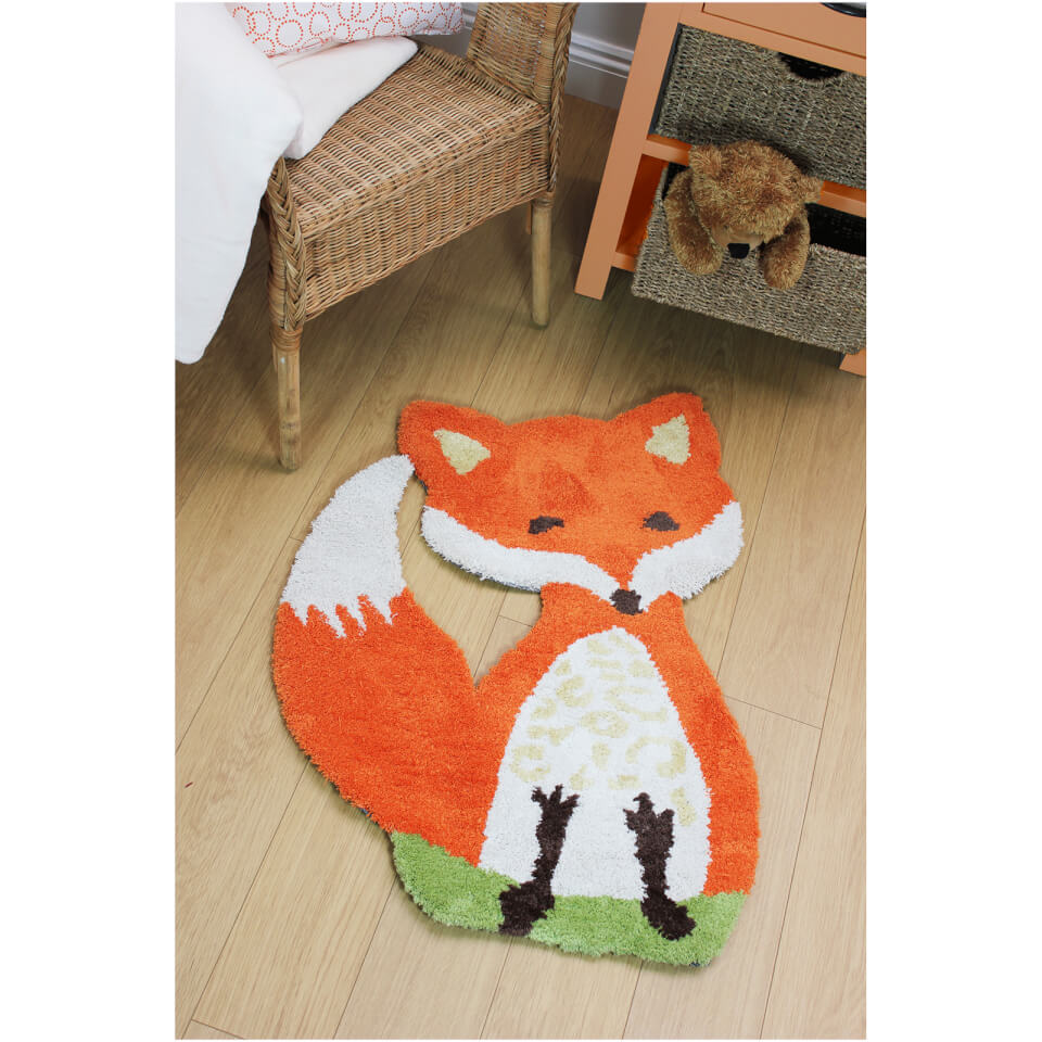 flair-plush-animals-rug-freddie-fox-orange-60x90