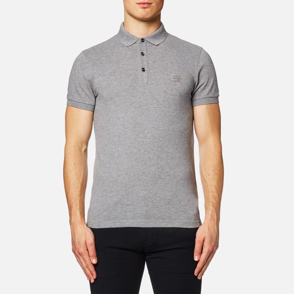 Boss Orange Mens Pavlik Short Sleeve Polo Shirt Grey Xl