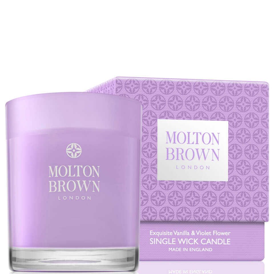 molton-brown-exquisite-vanilla-violet-flower-single-wick-candle