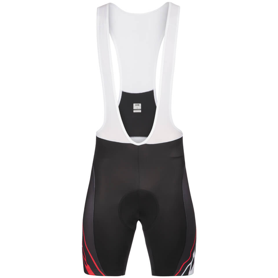look-pro-team-bib-shorts-black-red-s