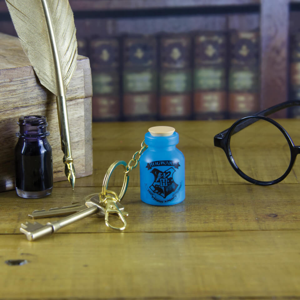 Harry Potter Light Up Potion Bottle Keyring Blue