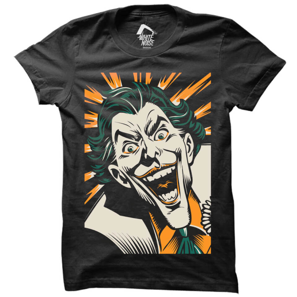 7fc12fa5a DC Comics Batman The Joker Laugh T-Shirt - Black Merchandise | Zavvi