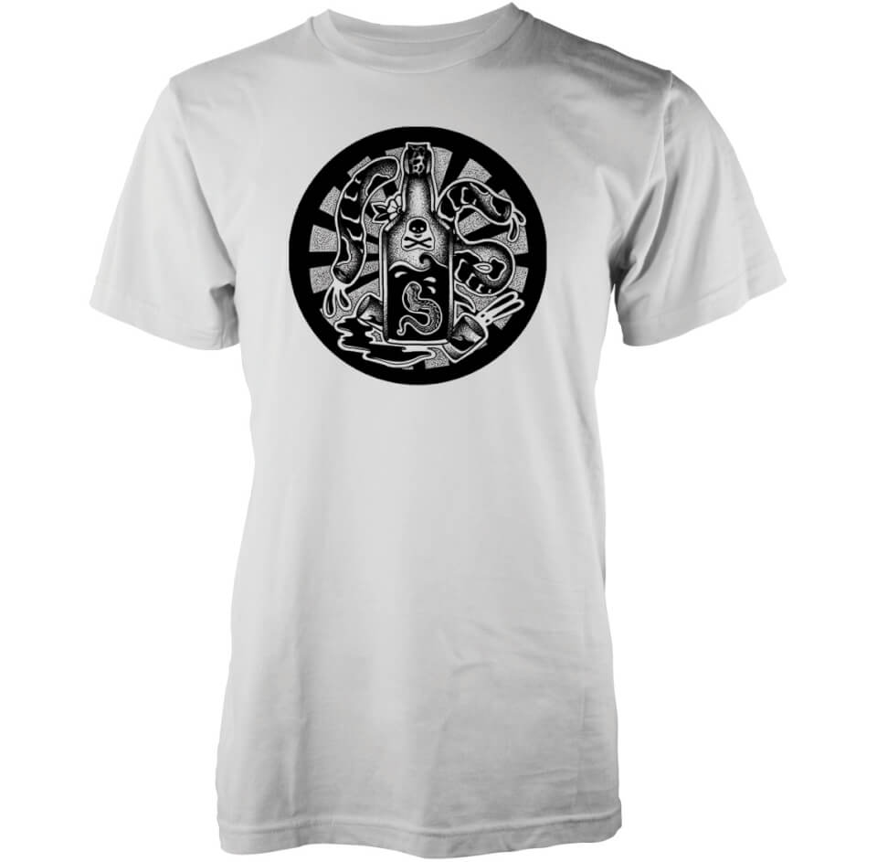Camiseta Abandon Ship Whisky - Hombre - Blanco - L - Blanco