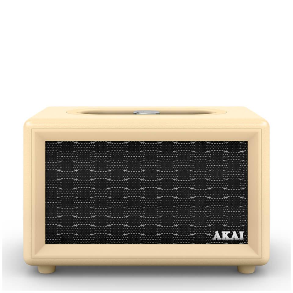 Altavoz Bluetooth Akai Retro - Crema