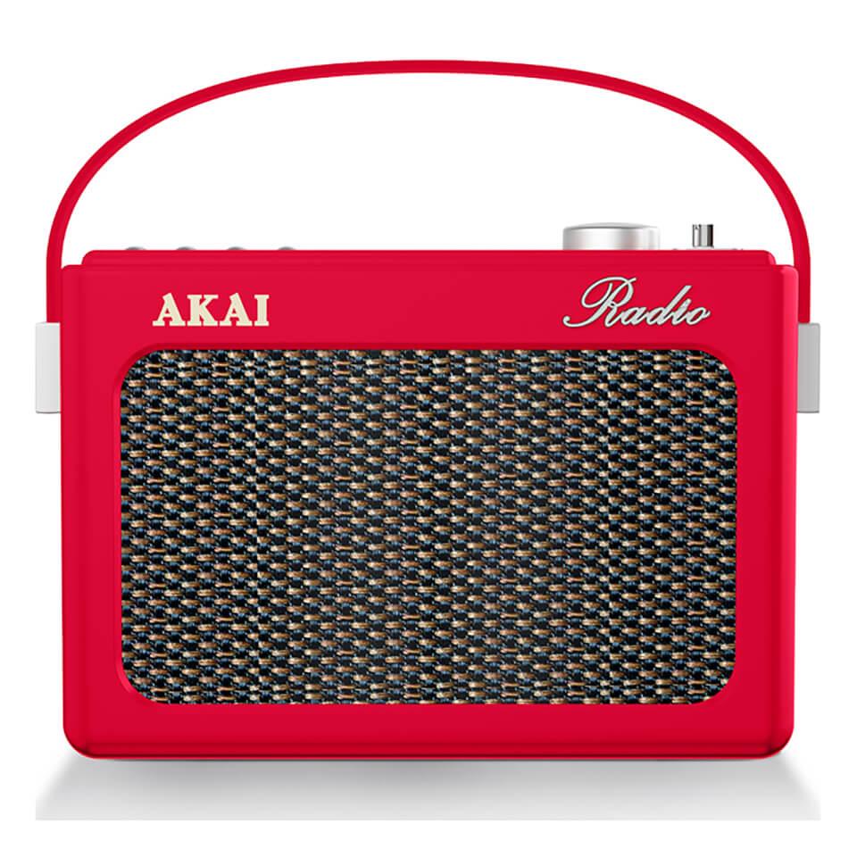 akai-retro-vintage-portable-wireless-dab-radio-with-lcd-screen-red