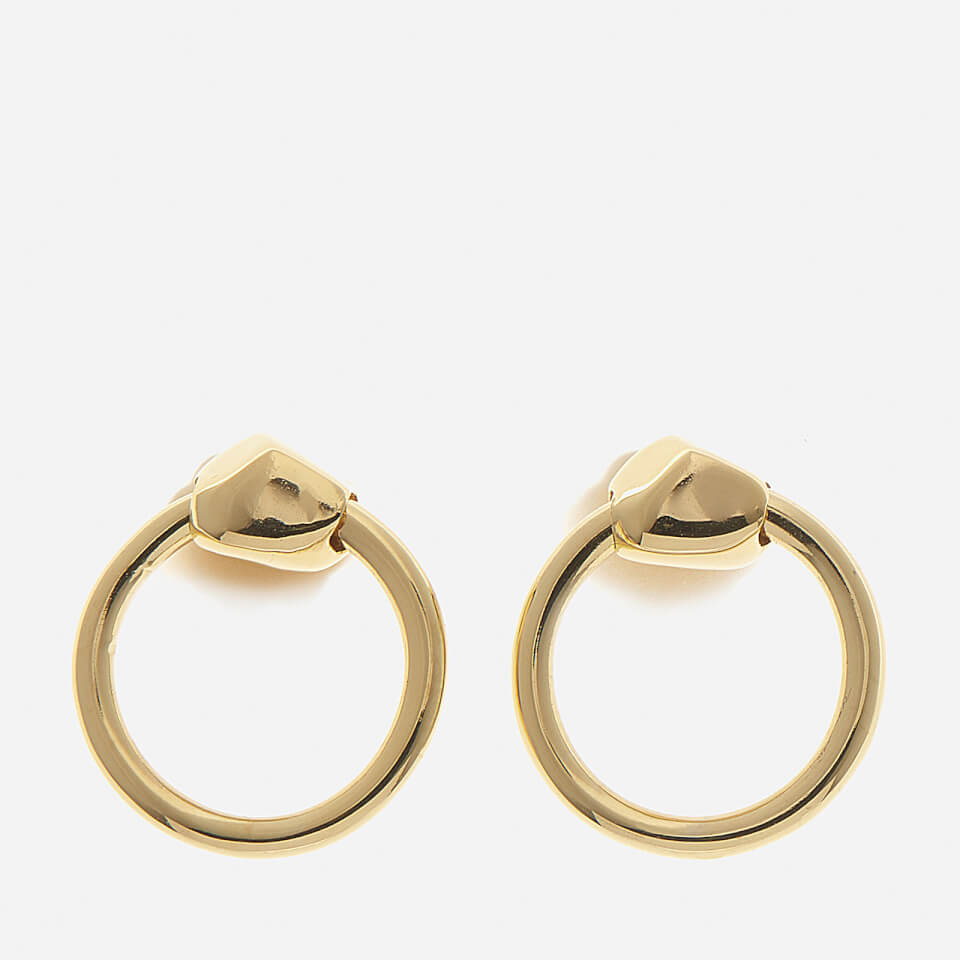 Missoma Womens Gold Nugget Hoops Gold