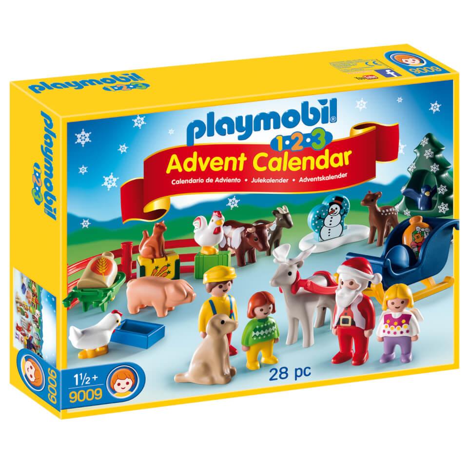 PLAYMOBIL 1.2.3: Calendario de Navidad - Granja de animales (9009)