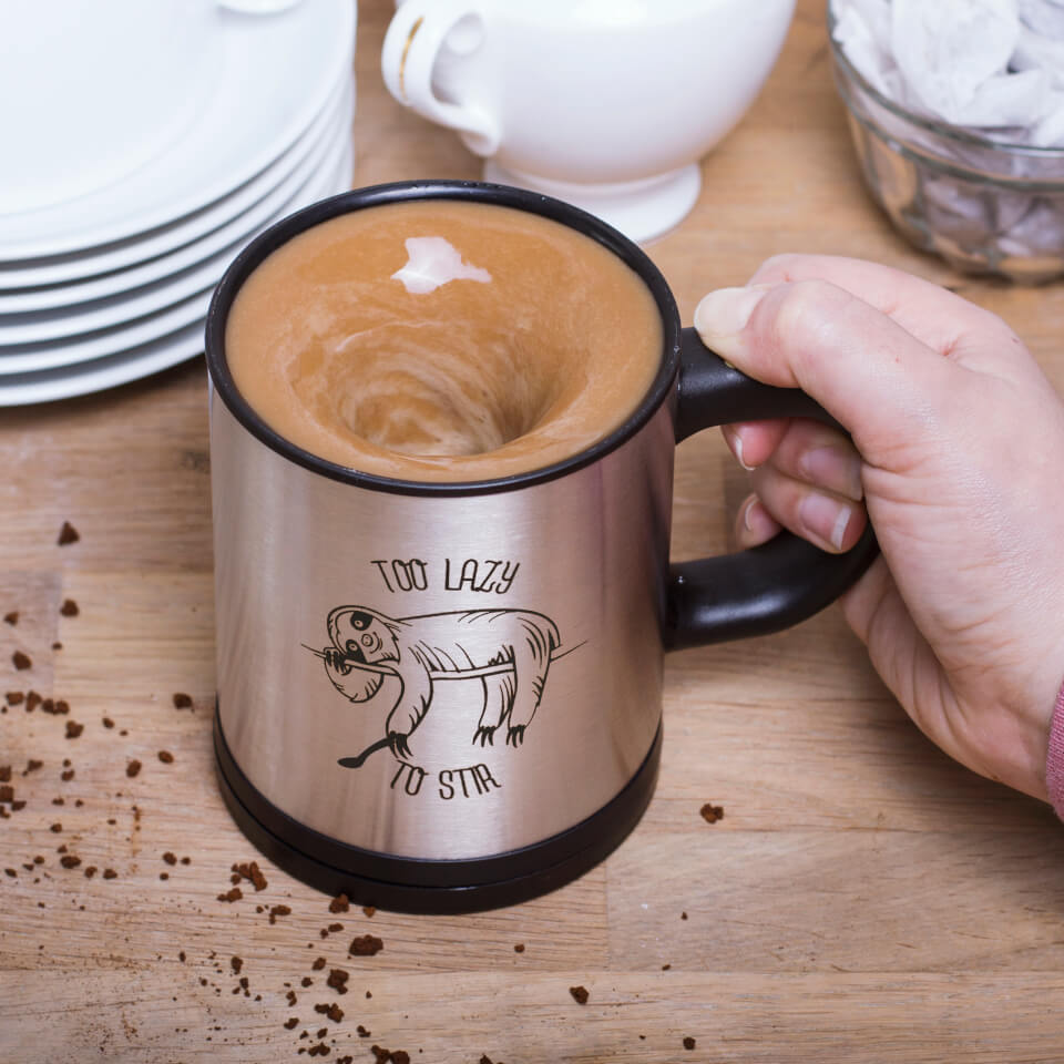 Sloth Self Stirring Mug - Silver