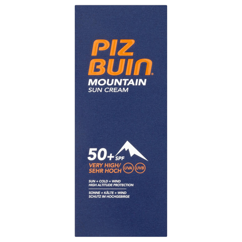Piz Buin Mountain Suncream Factor(spf)50+ 50ml