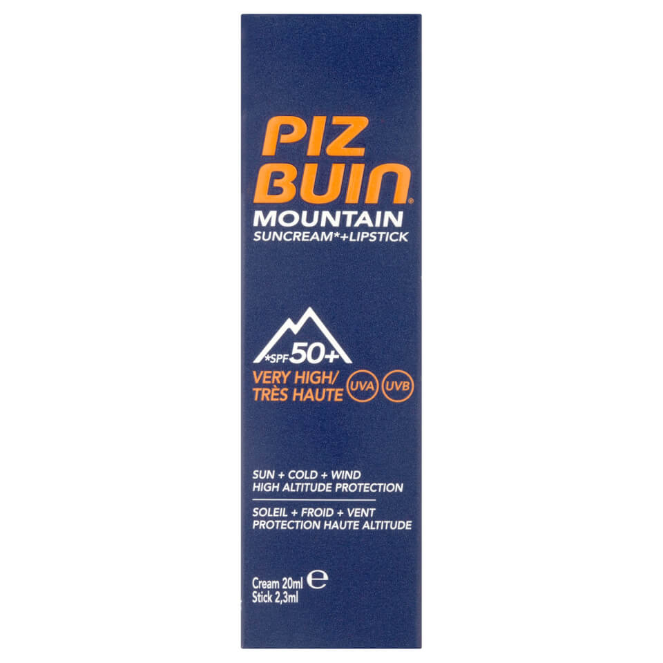 Piz Buin Mountain Suncream + lipstick Factor(spf)50 + 30 20+2ml