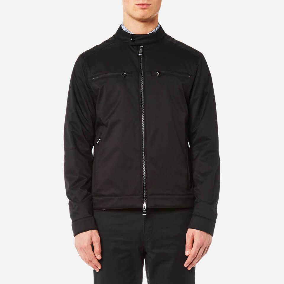 Michael Kors Mens Stretch Nylon Moto Jacket Black S
