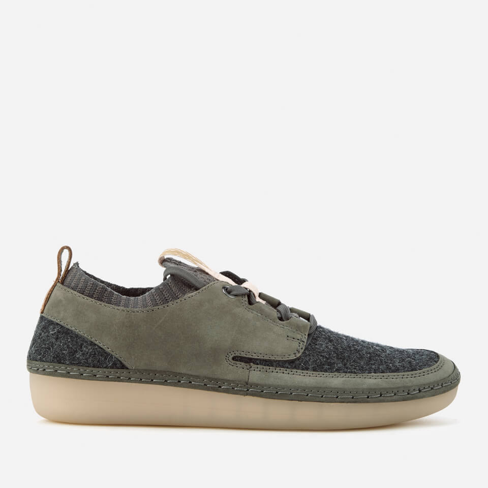 Clarks Women's Nature IV Lace Up Shoes - Dark Grey Combi ...