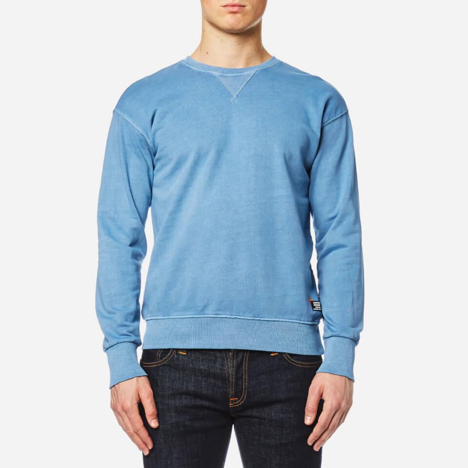 Superdry Mens Dry Originals Crew Sweatshirt Dry Chalk Blue Xxl