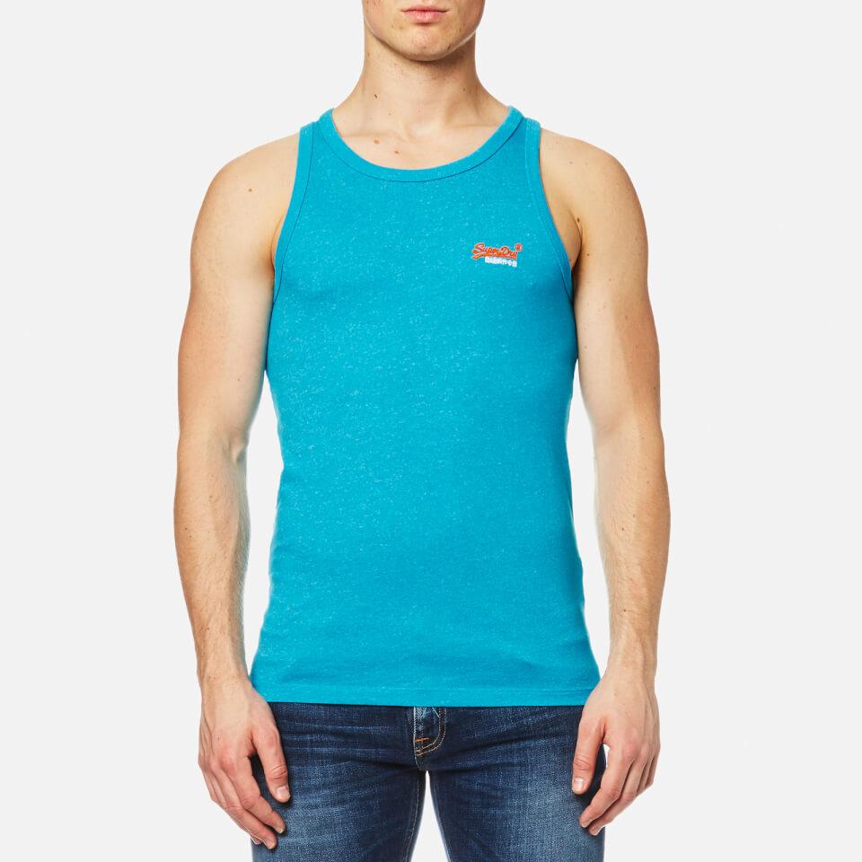 Superdry Mens Orange Label Hyper Pop Grit Vest Hawaii Blue Grit L