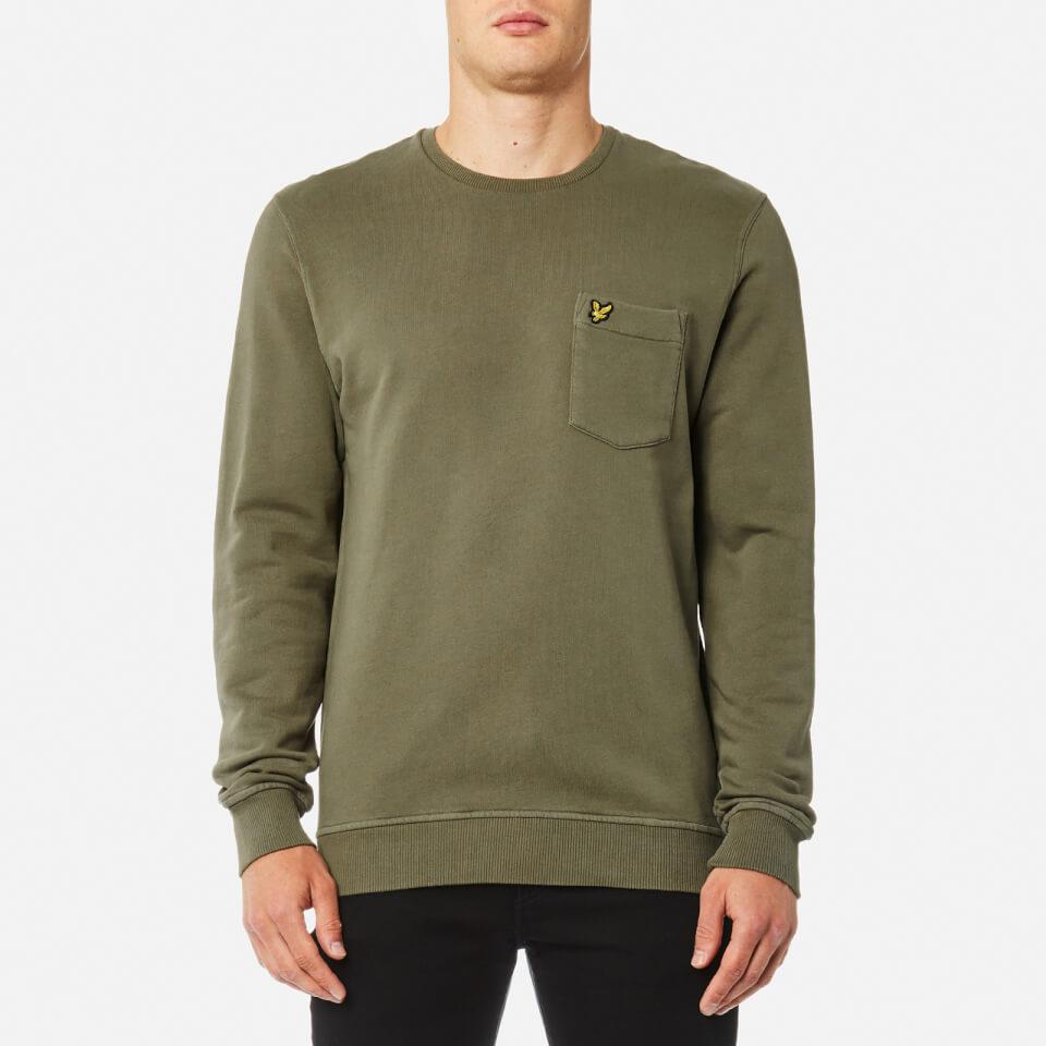 Lyle & Scott Mens Garment Dye Sweatshirt Dusty Olive Xxl