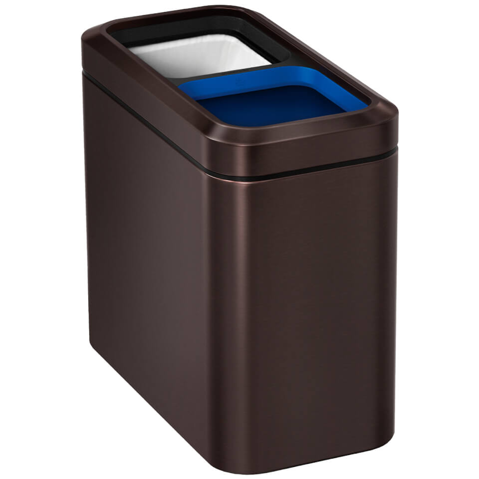 simplehuman-slim-open-recycler-bin-dark-bronze-20l