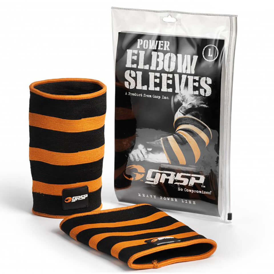 gasp-power-elbow-sleeves-black-flame-m-black-orange