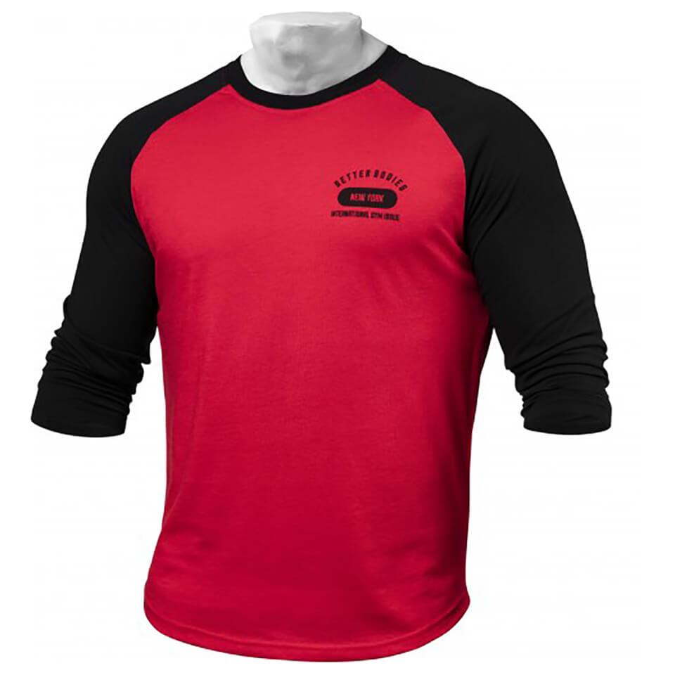 better-bodies-men-baseball-t-shirt-bright-red-s-punainen