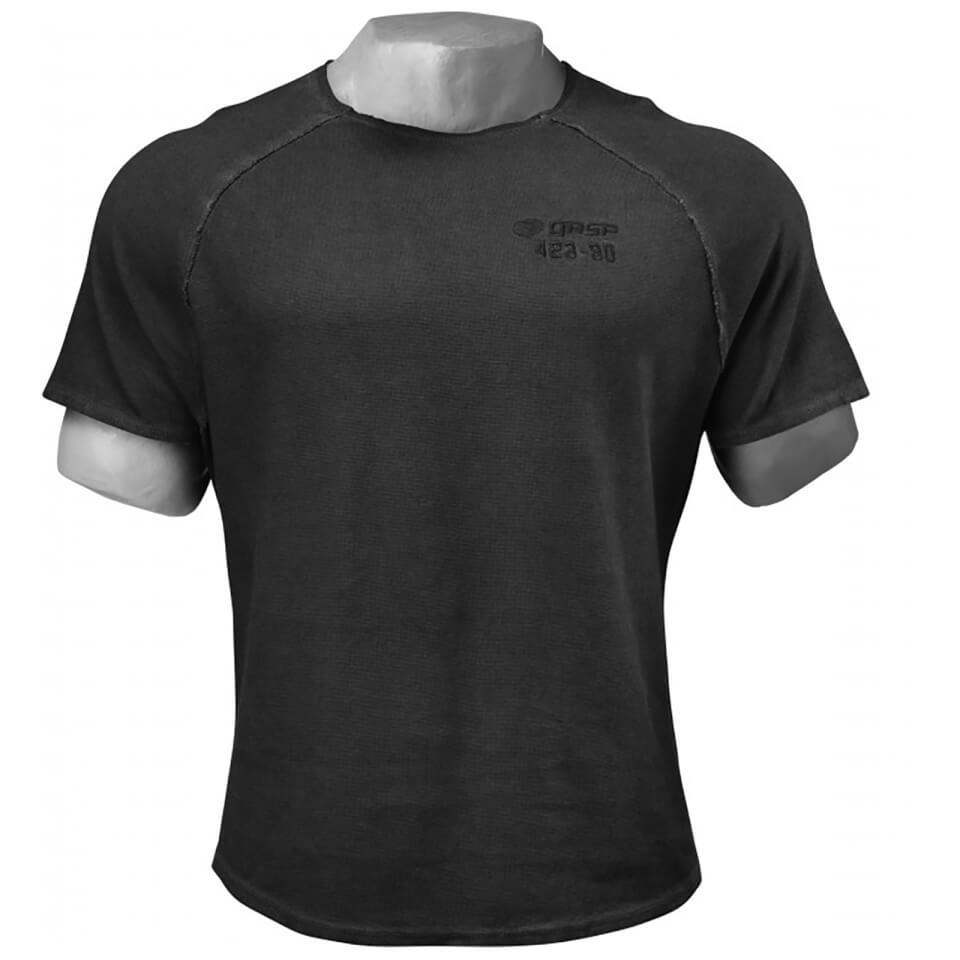 gasp-heritage-raglan-t-shirt-wash-black-xl-musta