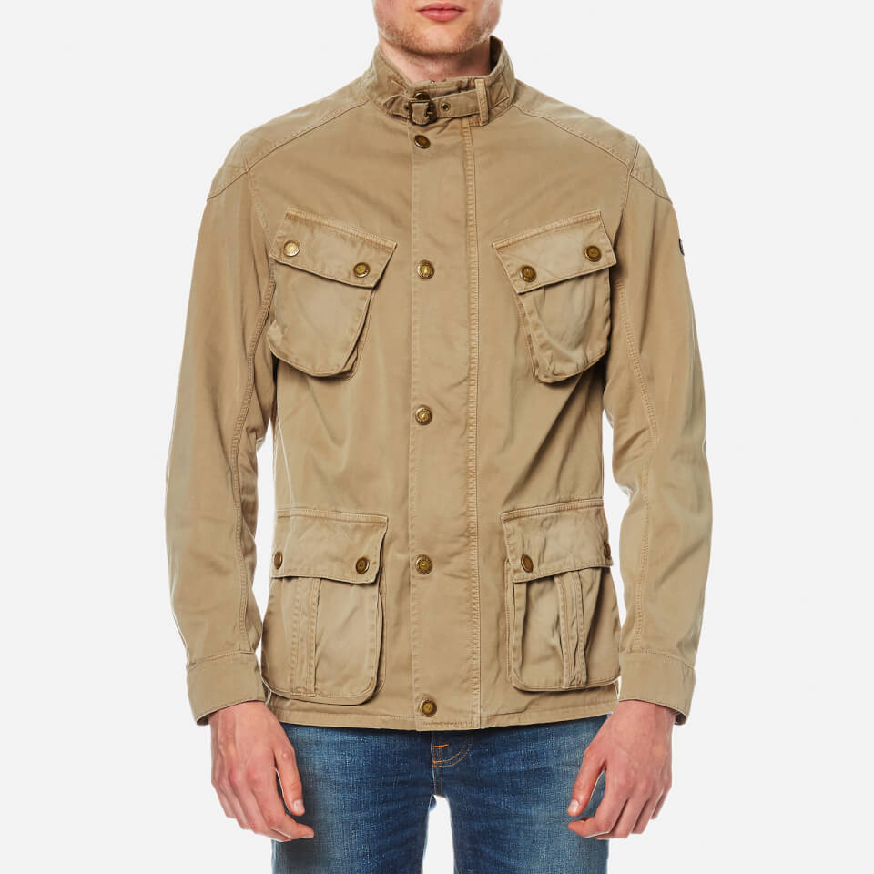 Barbour International Mens Rumble Casual Jacket Stone Xl