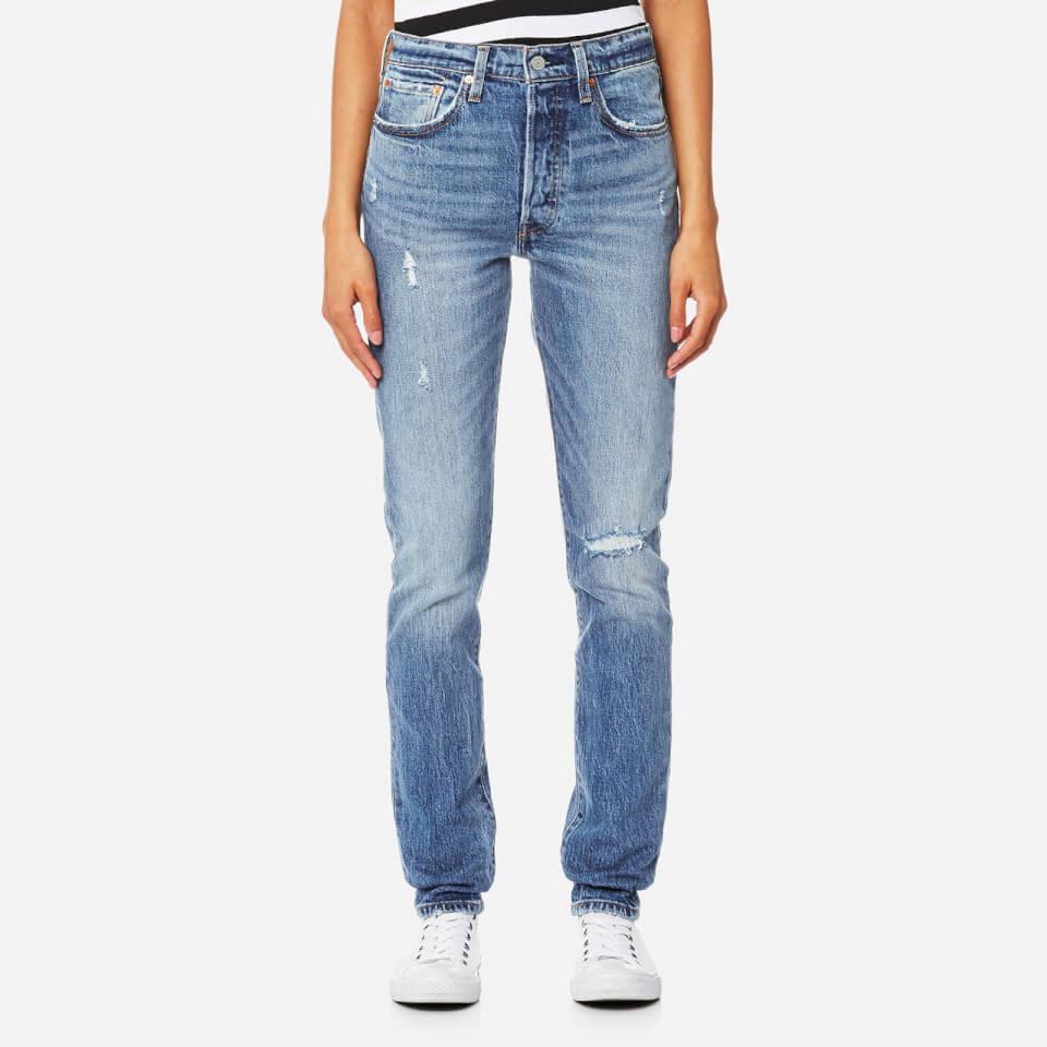 Levis Womens 501 Skinny Jeans Post Modern Blues W26/l30